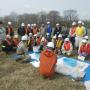 十勝川水質事故訓練で、油類や未知物質の対策講義を行いました